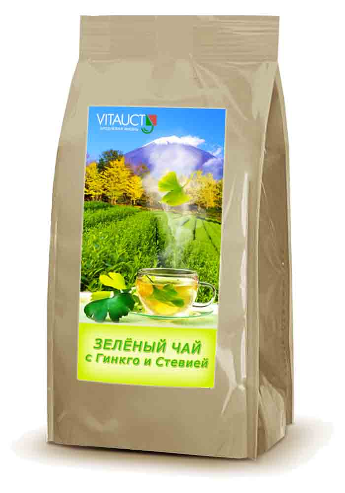 Зеленый чай с гинкго и стевией